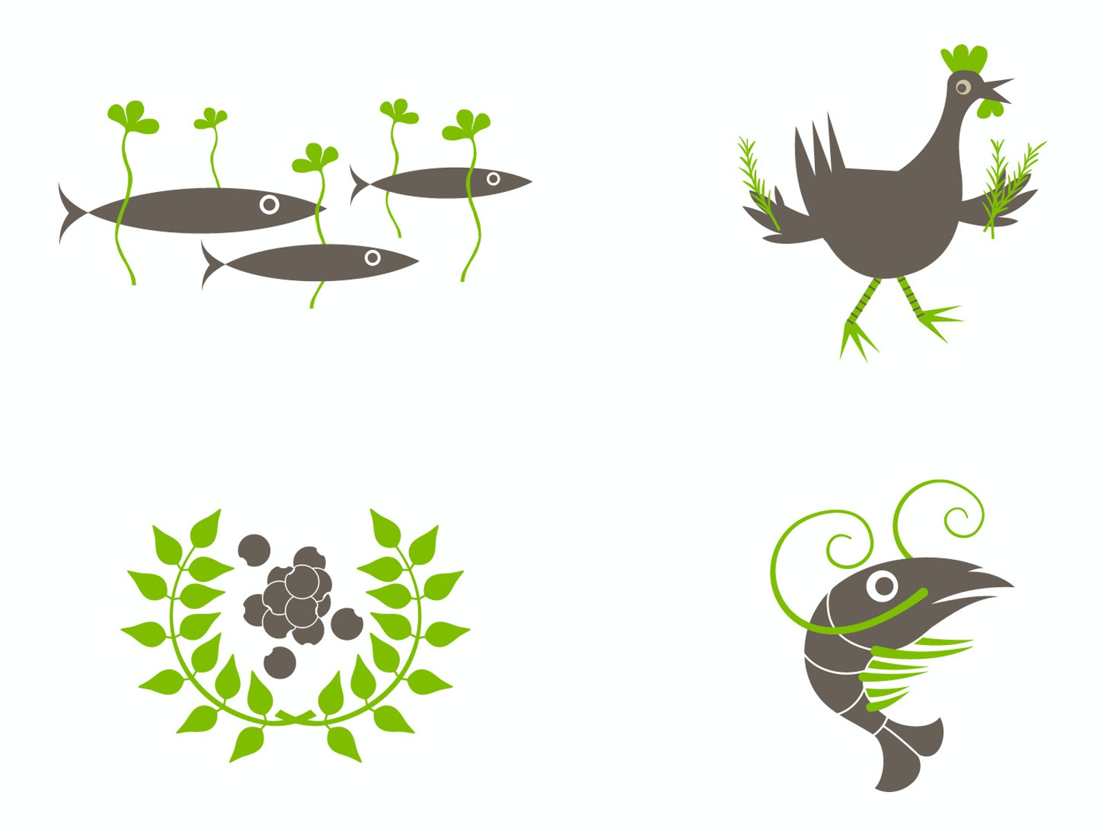 Simple Seed Illustrations